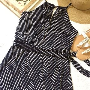 WHBM Abstract Stripe Dress
